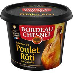 Bordeau Chesnel Bordeau Chesnel Rillettes de poulet rôti en cocotte le pot de 220 g