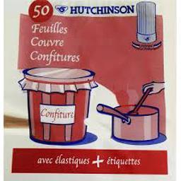 Feuilles couvre-confitures avec élastiques + étiquet...