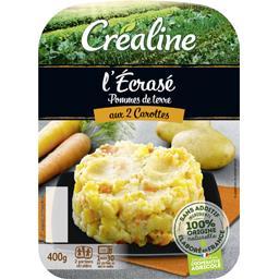 Créaline L'Ecrasé de pommes de terre aux 2 carottes