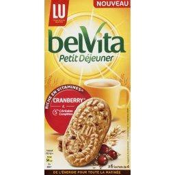 Belvita Petit Déjeuner - Biscuits Cranberry & 5 céréales complètes