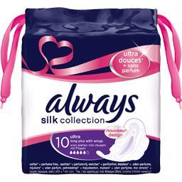 Silk Collection - Serviettes Ultra Long Plus