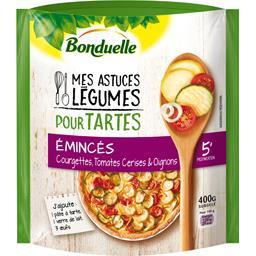 Légumes pour tartes émincés courgettes tomates oigno...