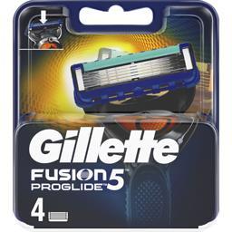 Gillette Gillette Fusion5 proglide lames de rasoir pour homme 4recharges La boîte de 4 lames