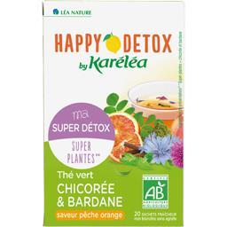 Happy Detox - Thé vert chicorée bardane saveur pêche...