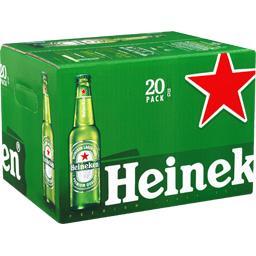 Heineken Heineken Bière blonde les 20 bouteilles de 25cl