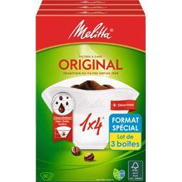 Melitta Filtres à café 1X4/80D le lot de 3