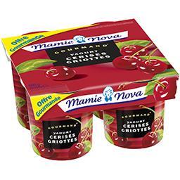 Mamie Nova Mamie Nova Gourmand - Yaourt cerises Griottes les 4 pots de 150 g