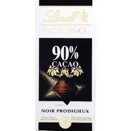 Lindt Lindt Excellence - Chocolat noir Prodigieux 90% cacao la tablette de 100 g
