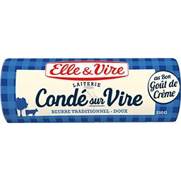 Elle & Vire Elle & Vire Beurre de la Laiterie de Condé sur Vire doux la plaquette de 250 g