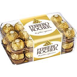 Ferrero Ferrero Rocher - Bonbons de chocolat au lait noisette la boite de 30 pièces - 375 g