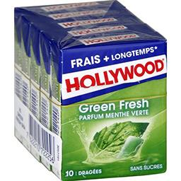 Hollywood Green Fresh - Chewing-gum parfum menthe verte sans s...