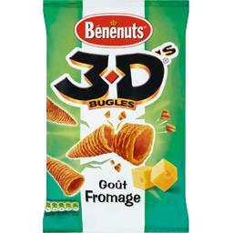 Bénénuts Bénénuts 3D Bugles - Biscuits apéritif goût fromage le sachet de 85 g