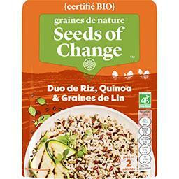 Duo de riz, quinoa & graines de lin BIO