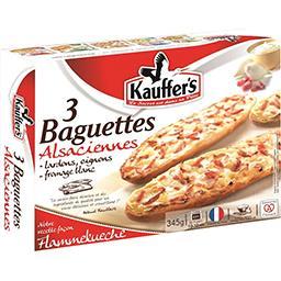 Kauffer's Kauffer's Baguettes alsaciennes façon Flammekueche les 3 baguettes de 115 g