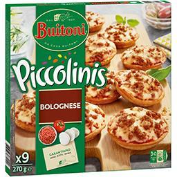 Piccolinis - Mini pizzas Bolognese