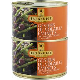 Plat cuisiné Gesiers de volailles Jean Larnaudie