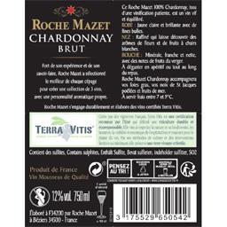 Roche Mazet Roche Mazet Vin mousseux Chardonnay brut la bouteille de 750 ml