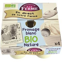 Fromage blanc nature BIO et local