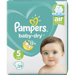 Pampers Pampers Couches Baby-dry taille 5 : 11-16 kg le paquet de 39