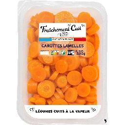 Lunor Fraîchement cuit by lunor Carottes lamelles La barquette de 280g