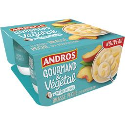 Andros Andros Gourmand & Végétal - Brassé pêche du Roussillon lait de coco les 4 pots de 100 g