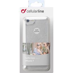 Coque silicone souple pailletée Silver pour Iphone 7/8