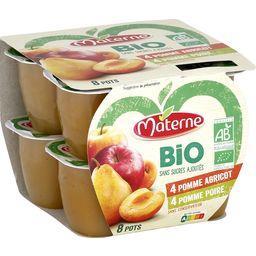 Materne Materne Bio - Spécialité pomme abricot/pomme poire BIO sans sucres ajoutés les 8 pots de 100 g