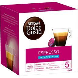 Dolce Gusto - Capsules de café Espresso Decaffeinato