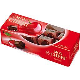 Ferrero Mon Chéri Bonbons de chocolat cerise liqueur la boite de 16 pièces - 168 g