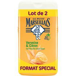 Le Petit Marseillais Le Petit Marseillais Gel douche extra doux verveine & citron le lot de 2 flacons de 250 ml - Format spécial