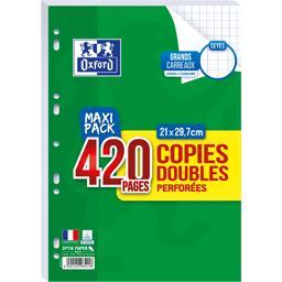 Oxford Copies doubles perforées 21x39,7 cm seyes
