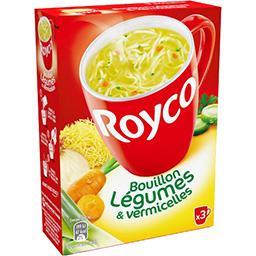 Royco Royco Bouillon de légumes & vermicelles la boite de 3 sachets - 37,8 g