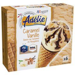 Cônes caramel vanille
