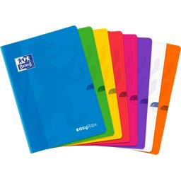 Oxford Oxford Cahier Easybook agrafé 210x297 90 g seyes coloris assortis le cahier de 96 pages