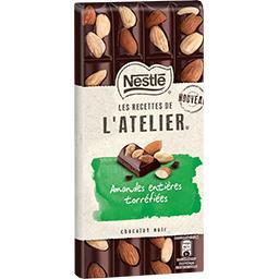 Nestlé Nestlé Les recettes de l'Atelier - Chocolat noir amandes entières la tablette de 195 g