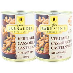 Jean Larnaudie Véritable cassoulet de Castelnaudary au canard le lot de 2 boites de 840 g