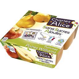 Dessert pommes poires Williams sans sucres ajoutés