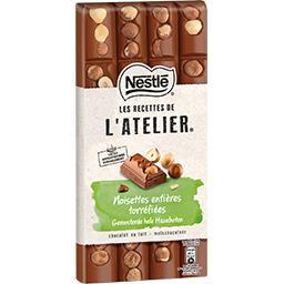 Nestlé Nestlé Grand Chocolat Les Recettes de l'Atelier - Chocolat au lait noisettes la tablette de 170 g