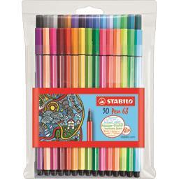 Pen 68 - Feutres de dessin 30 couleurs éclatantes