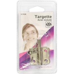 Targette acier nickelé 30mm