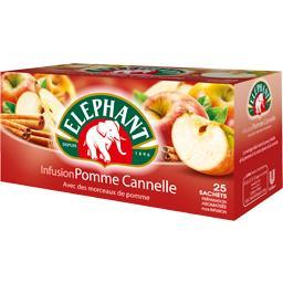 Infusion pomme cannelle avec morceaux de pomme