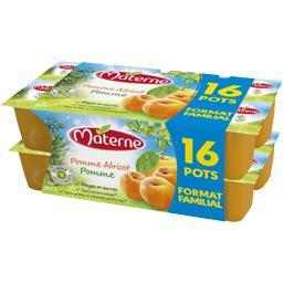 Materne Spécialité de pomme abricot les 16 pots de 100 g