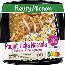 Poulet Tikka Massala & riz aux petits légumes