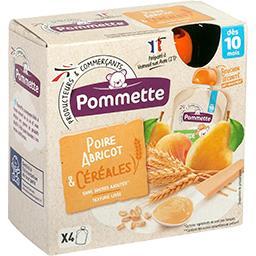 Compote poire abricot & céréales, dès 10 mois