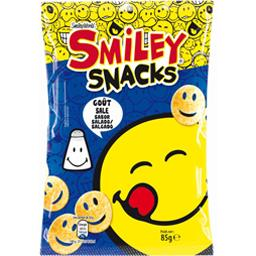 Smiley World Biscuits apéritif Smiley Snacks goût salé le sachet de 85 g