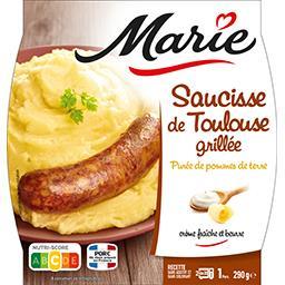 Marie Marie Saucisse de Toulouse grillée purée de pommes de terre la barquette de 290 g