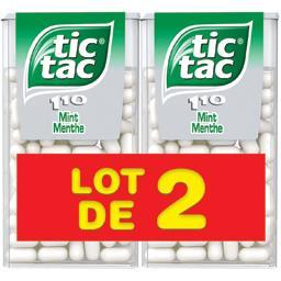 Tic Tac Tic Tac Bonbons menthe les 2 boites de 110 pastilles - 108 g