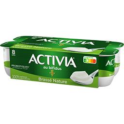 Danone Activia Lait fermenté brassé nature les 8 pots de 125 g
