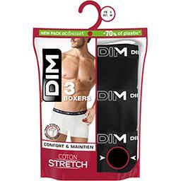 Dim Dim Boxers homme coton stretch noir/noir/noir taille 6 Le lot de 3