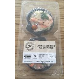 Coquille crevettes frais